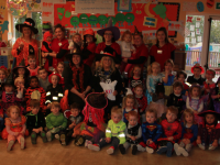 A Halloween fundraiser for Brú Columbanus at Mounthawk Montessori School.