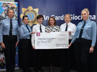 At the presentation of a cheque for €5,000 to Kerry Rape and Sexual Abuse Centre were Sgt Lynda Brosnan, Garda Eilis Cronin, Assistant Commissioner Anne Marie Mc Mahon, Vera O Leary, Chief Superintendant Eileen Foster and Garda Gillian Mac Eoin