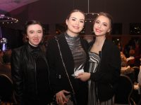 Models Kayla Lacey, Eabha Coffey and Arbresha Kastrati at the ADAPT Fashion Show in Ballyroe Heights Hotel on Friday night. Photo by Dermot Crean