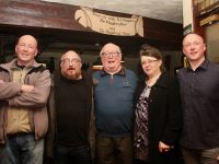 Manus, Kerry, Danny, Sandy and Danny Jnr at The Abbey Inn on Friday night. Photo by Dermot Crean