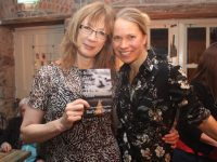 Barbara Byar with Janna Burns at the launch of Barbara's book  at Madden's on Friday evening. Photo by Dermot Crean