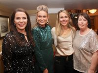 Claire Kelly, Dawn Lynch, Marie Carroll and Jacqui Hurley from Leahy's Pharmacy at their Christmas party night in Kirby's Brogue Inn on Saturday night. Photo by Dermot Crean