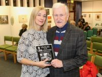 Radio Kerry's Deirdre Walsh with John Cleary at the launch of his latest book in Tralee Library. Photo by Dermot Crean