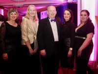 Michele King, Susan Kelly, Dick Henggeler, Siobhan Gilbert and Marie McMahon from The Rose Hotel at the Connect Kerry Hospitality Awards at the INEC Killarney on Wednesday night. Photo by Dermot Crean