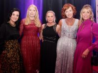 Carmel McKenna, Francesca O'Sullivan, Maggie O'Connor Fiona Nealon and Patrice O'Callaghan of the Listowel Arms at the Connect Kerry Hospitality Awards at the INEC Killarney on Wednesday night. Photo by Dermot Crean