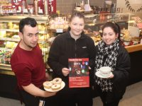 Andrei Rogojina, Rebecca Byrne  and Kim Pacheco looking forward to the family fun day fundraiser at Costa Coffee on The Mall next Sunday. Photo by Dermot Crean