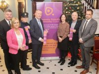 Launching the Dementia Friendly Tralee initiative at The Imperial Hotel on Friday morning were Derek Carroll of The Imperial, Dolores McElligott, Garda Mary Gardiner, Michael Fitzgerald HSE, Eibhlís  Cahalane HSE, Aidan Kelly and David Scott of Tralee Chamber Alliance. Photo by Dermot Crean