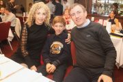 Caroline Collins, Jack Collins and John Collins at the Tralee Harriers Awards Night at Manor West Hotel on Friday night. Photo by Dermot Crean