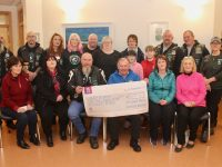 The Kingdom Knights presenting the proceeds of a fundraiser to Kerry Hospice on Friday. Front from left; Mary Shanahan, Bridget Long, Mike Browne, Joe Hennebery, Mary Browne and Helen Nash. Back from left; Peter Gunn, Emmett Rumgay, Nicky Sheehan, Petrina Comerford, Mick Broderick, Dora Broderick, Emma Long, Noreen Collins, Sarah Collins, James O'Connor, Darren Long, Sharon Browne and Stephen Dunlea. Photo by Dermot Crean