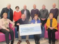 At the presentation of a cheque for €2,600 to Kerry Hospice Foundation on Friday were, front from left; Anna Lyons, Joe Hennebery, Breda Buckley, Mary Shanahan. Back from left; Sean Shanahan, Mary Shanahan, Dan Buckley, Dave Buckley, Denis Buckley and John Lyons. Photo by Dermot Crean