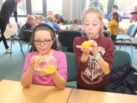 Having fun at the Science Week event at IT Tralee on Saturday. Photo by Dermot Crean