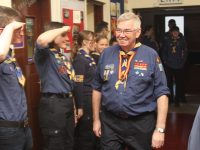Jimmy O'Donnell arriving at the Scout Hall for his surprise celebration on Saturday. Photo by Dermot Crean