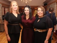 Maeve Holly, Charlotte O'Donovan and Mary O'Connor at the Kerry Macra 75th Anniversary Social at Ballygarry House Hotel on Saturday night. Photo by Dermot Crean