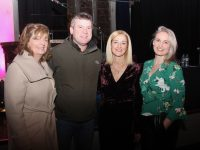 Joanna Keane, Dara Ó Cinnéide, Deirdre Walsh and Elaine Kinsella at Poetry From The Pulpit at St John's Theatre Listowel on Thursday night. Photo by Dermot Crean