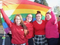 Students taking part in LGBT+ Awareness Week at Presentation Secondary School on Friday. Photo by Dermot Crean