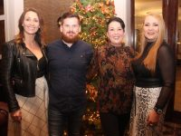 Andrea Dolan, Alex Maguire, Tina Lonergan and Karen O'Connor at the Thanksgiving Dinner in The Rose Hotel on Thursday night. Photo by Dermot Crean