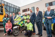 At the launch were, back row, from left: Priscilla Lynch, Cork Kerry Community Healthcare; David O'Sullivan, Interagency Emergency Mgt. Office; Cllr. Damien Boylan, deputising for the Lord Mayor of Cork; Inp. James Hallahan, An Garda Siochana; Kieran Minihan, Ambulance Service; Cllr. Christopher O'Sullivan, Mayor of the County of Cork; Niall Kelleher, Cathaoirleach of Kerry County Council, and John Donegan, Sen Eng. Cork Co. Co.; Front (left) Ruth Buckley, Dep. Chief Executive, Cork City Council and Kevin Higgins, Cork Fire Service.(Pic: Brian Lougheed)
