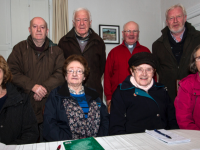 Members of the Ballymacelligott Parish Bazaar Committee at a planning meeting the presbytery in Clogher on Monday night. Seated from left: Florence Ahern, Joan Harrington, Lil O'Leary and Mary O'Connell. Back from left: Tony Riordan, Bobby Fitzgerald, Fr. Gearóid Walsh, PP Ballymacelligott and Tadhg Kerins. The committee also includes: Kathleen Griffin, Pat O'Connell, Nell O'Connell, Siobhán O'Connor and Cllr. Fionnán Fitzgerald. Photograph: John Reidy