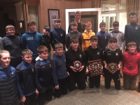 Photo attached: Tommy Walsh , Senior Kerry player with  the Ballymac proud U12 Blue & Gold teams with their medals and trophies at Club medal presentation on Sunday last.