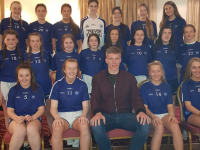 Kerins O'Rahillys U16 Ladies (missing from photo is Rachael O' Donnell) pictured here with County Star Tommy Walsh.  They were presented with the Trophyworld, division 2 North Kerry Shield last weekend.