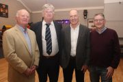 1969 minors Joe Parker, Niall Murphy, John O'Keeffe and Tim Clifford at the function to honour members of the 1969 minor and 1994 senior championship winning teams. Photo by Dermot Crean
