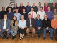 Members and representatives of the 1994 team, management and selectors with Chairman of Kerry County Board Tim Murphy and Chairperson of Austin Stacks GAA Club Mairead Fernane at the function to honour members of the 1969 minor and 1994 senior championship winning teams. Front row - Eddie Barrett (organising committee & team selector 1994); Nicola Galvin (representing her Dad, the late John Galvin); Mairead Fernane (Austin Stacks Chairperson); Tim Murphy (Chairman, Kerry Co. Board); John Walsh; Owen Moynihan; Denis O'Regan (Dee Butcher/Team Sponsor 1994.) Middle Row - Jerry Fitzmaurice; Ger Teahon; Pa Laide; Michael Hickey (1994 team selector); Niall Lucey (rep. late Paul Lucey, Trainer/Selector); John Harrington; Cormac Kennedy; Jim Naughton, (father of Cathal Naughton /organising committee & team selector 1994); Brian Shanahan. Back row - Martin McKivergan; Malachy Nagle; Pat Slattery (captain); Eddie Dowling; Donal McEvoy; Kieran Browne; Ger Power (Trainer); Denis Sayers. Photo by Dermot Crean