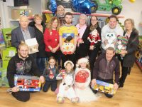 Launching the 'Toys Upstairs' Toy Appeal for St Vincent de Paul on Friday, were, front from left; Martin Medricky, Dayna O'Connor, Emily Egan Smith, Caragh Kelliher and Nicky Looney. Back from left; Michael Quinn, Stella Kerins, Treasa Walsh, Sharon Sheehan, Cian Doherty, Marian Moore, Carly Griffin, Tommy Cantillon and Anne O'Sullivan. Photo by Dermot Crean