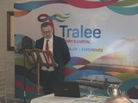 Ken Tobin speaking at the launch of the 'Action Plan for Developing Tourism in Tralee' at Ballyseede Castle Hotel on Monday. Photo by Dermot Crean