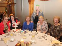 Teri O'Brien, Jennifer O'Brien, Nodie O'Brien, Mary Jennings, Mary Ward and Helena Leahy at the Irish Wheelchair Association Christmas Party in the Meadowlands Hotel on Sunday afternoon. Photo by Dermot Crean