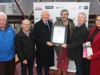 At the presentation of the Community Vibrancy Award on Monday were Donal Tobin, Tim McSweeney, Frank Hayes of Kerry Group, Peter Colleran, Eamon O'Reilly CEO of NEWKD and Trisha Dowling, Coordinator & Health and Safety Officer NEWKD.