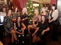 Seated; Ciara McCarthy, Michelle Nealon, Michelle Galvin and Emma O'Brien. Back from left; Clodagh Roche, Anna Cunningham, Catriona O'Brien and Tara Crean at the Patricks Hair Salon Christmas party in Benner's Hotel on Saturday night. Photo by Dermot Crean