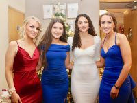 Caitlyn Brick, Jessica Barrett, Jasmine Ryle and Jennifer McLoughlin at the CBS The Green Students' Debs Ball at Ballyroe Heights Hotel on Monday night. Photo by Dermot Crean