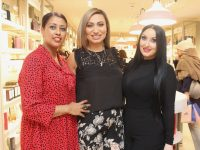 CH fragrance expert Betesaida Hailegeorgis with Rasha Amin and Louise Dennehy at the CH Fragrance event at CH on Friday night. Photo by Dermot Crean