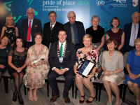 Pictured with Kerry County Council representatives, Mayor of Kerry, Cllr. Niall Kelleher and Helena Switzer are the Kerry Camino group (2263), winners of the Community Tourism catagory.