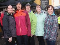 Geraldine Riordan, Sinead Perfect, Angle Sebak, Bridget Riordan and Amel Sebak at the Bill Kirby Memorial Walk on St Stephen's Day. Photo by Dermot Crean