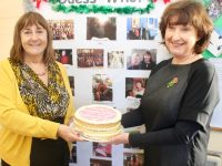 Aileen Bulman who is retiring after 38 years teaching in Listellick NS, with Principal Annette Dineen. Photo by Dermot Crean