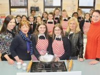 Presentation students launch 'Cookies For Chemo Day' with teacher Elaine Dennehy, Mary Fitzgerald of Comfort For Chemo Kerry, Deputy Principal Chrissie Kelly and Bríd O'Connor of Comfort For Chemo Kerry. Photo by Dermot Crean