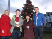 Launching the Remembrance Tree ceremony which takes place this Sunday were Jean Foley of Kerry County Council. Joshua and Sharon Roche and Colm Nagle of Kerry County Council. Photo by Dermot Crean