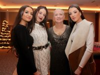 Shannon Sheehan, Laura Fitzgerald, Deborah Sheehan and Leanne Barrett at the Casino Christmas Party night at The Rose Hotel on Friday. Photo by Dermot Crean