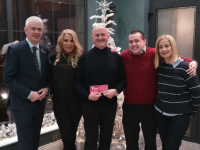 Mark Sullivan (GM The Hose Hotel), Jacqui Young, Patrick Young, Paddy Kevane (SVP Kerry); Deirdre Walsh (Radio Kerry)