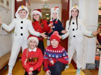 Some of Mrs McCarthy's third class pupils who performed 'A Christmas Medley' at the Scoil Eoin Christmas Concert on Wednesday evening. Photo by Dermot Crean