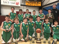 St. Brendan's U12s with coach Nathan Roche - winners of the Bruddy Burrows Memorial tournament