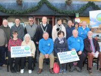 Launching the annual Bill Kirby Memorial Walk were, back from left; Mike Moriarty, Patrick Casey, Pa Laide, Mark Lee, Mayor Jim Finucane, Cllr Sam Locke, Jerry Daly and Michael Fox Connor. Front from left; Fiona Kirby, Ciss O'Connor, Joe Hennebery, Mary Shanahan, Willie Cleary and Frank Greaney. Photo by Dermot Crean