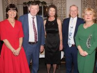 Lillian McMahon, Presentation Primary, Tom Begley, CBS Primary; Siobhan Uí Dhónaill, Derryquay NS; Brendan McMahon, CBS Primary and Mary McMahon, Scoil Eoin, Balloonagh, at a function to mark their retirement from teaching at The Meadowlands Hotel on Friday night. Photo by Dermot Crean