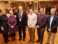 Attending the meeting in The Rose Hotel last night were Jean Foley, Kerry County Council; Dr Susan Lawlor; Mayor of Tralee Jim Finucane; Adam Harris of 'As I Am'; Jack Dowey and Jimmy Adams. Photo by Dermot Crean