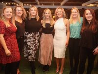 Sandra Bunyan, Michelle O'Sullivan, Aedemar O'Regan, Norah Gibbons, Ruth Maher, Niamh O'Sullivan and Michelle Fitzgibbon at the 'Bands For Bubbles' fundraiser at Benners Hotel on Friday night. Photo by Dermot Crean