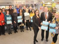 Promoting the upcoming meeting to help the initiative to make Tralee an Autism Friendly Town were, in front; Sandra Lynch of Garveys Supervalu Tralee, Mayor of Tralee Jim Finucane and Dr Susan Lawlor. At back;