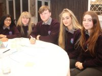 Colaiste Gleann Li students at the Neat Streets conference in The Rose Hotel on Wednesday. Photo by Dermot Crean