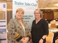 Martina Hannafin and Eilish Anne Woods of Tralee Jobs Club at the Progressive Pathways Fair in The Rose Hotel on Friday. Photo by Dermot Crean