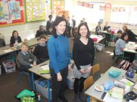 Principal Aoife Benton and teacher Maura O'Doherty in class at St John's Parochial School. Photo by Dermot Crean